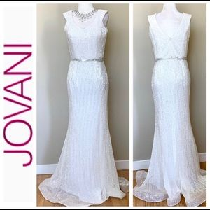 NWOT JOVANI Sleeveless Sequin Dress Goen Sz 8